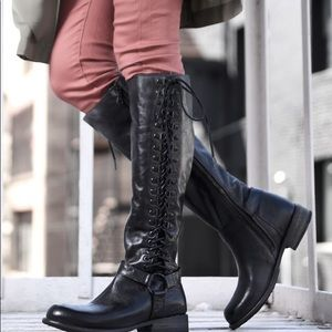 Bed Stu Burnley Dip Dye Boots Black NEW